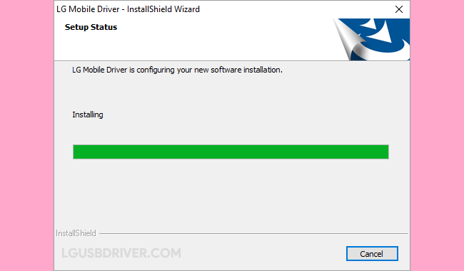 LG Driver Installing